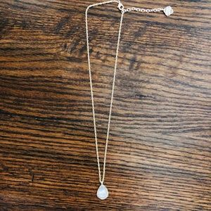 Kendra Scott Gold and Irridescent Stone Necklace